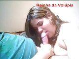 Cadelona brasileira bem puta mamando